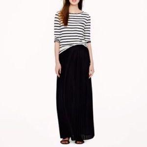 J. Crew Black Maxi Skirt